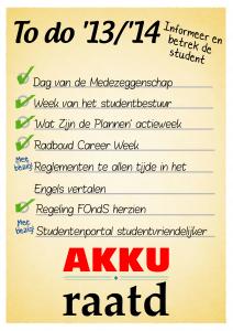 Bereikt - informeer en betrek de student
